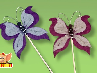 Arts & Crafts - How to Make a Butterfly Bookmark
