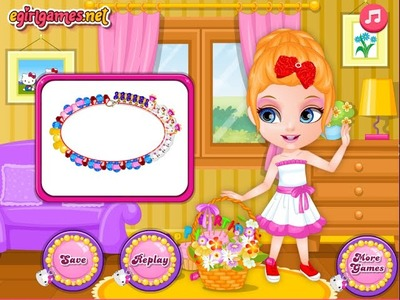 Baby Barbie Hobbies Beads Necklace-Best Cute Baby Games 2014
