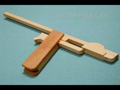 Bone-like design,  6 rounds Rubber Band Gun. oggcraft.jp