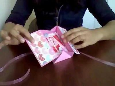 Box Card ( Scrapbook ) Tarjeta + Detalle + Dulces