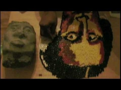 Call to All Youtube Artist, Over 1000 Beads Create a Portrait of Mona Lisa by Corey Barksdale