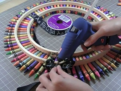 Crayon Wreath  and Tutorial