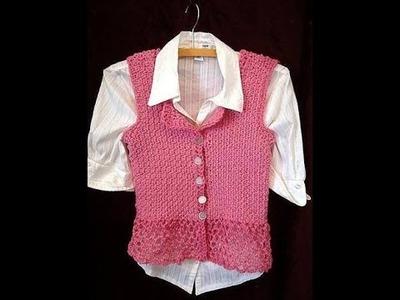 CROCHET SIDEWAYS VEST OR SUMMER TOP, Sweater video pattern, 3 to 6 months size