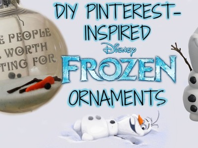 DIY Frozen Inspired Olaf Ornaments