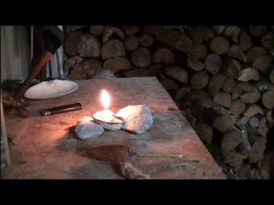DIY Primitive or survival oil lamp