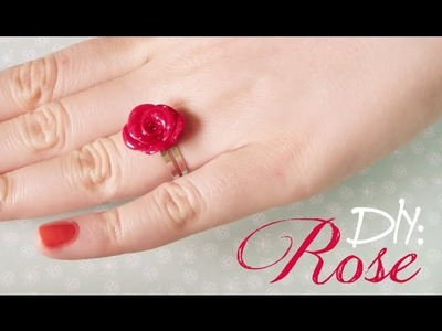 DIY: Rose Ring & Earrings - with Polymer Clay