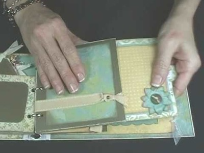 Fabulously Artsy -- Slide-out pocket page (Mini Scrapbook, part 4)