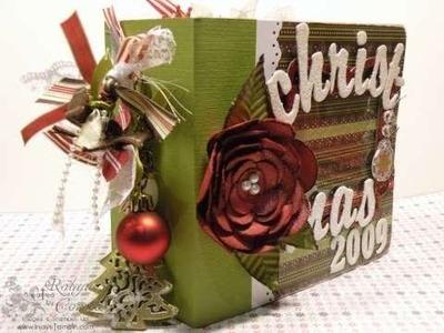 Family Christmas Scrapbook Mini Album