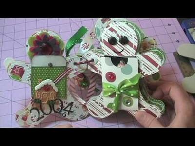 Gingerbread Men Christmas Mini Scrapbook Album