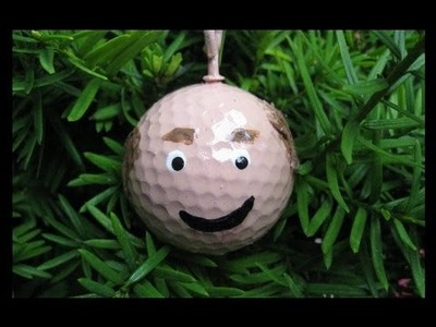 Golf Ball Head Ornament Craft Fun and Easy