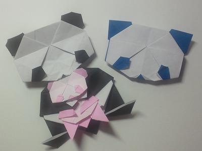 Great Origami-how to make paper giant panda(face)-暮らしを彩る、すてきなおりがみ雑貨-パンダの折り方(顔)-