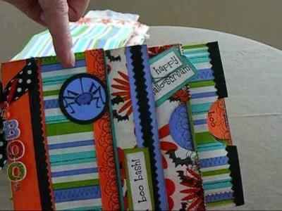 Halloween Paper Bag Mini Scrapbook