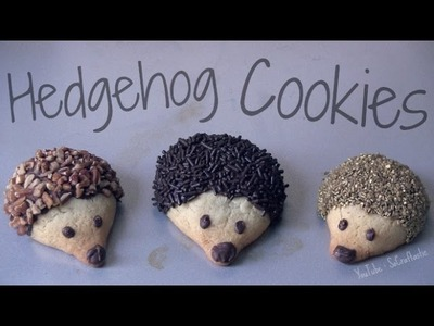 Hedgehog Cookies - How To - Baking Tutorial - Fall Treats - Fluffy Sugar Cookies