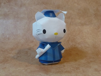 Hello kitty graduation papercraft