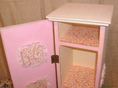 How to do crafts Altered Storage Cabinet