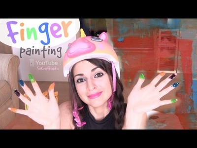 How to Finger Paint with SoCraftastic