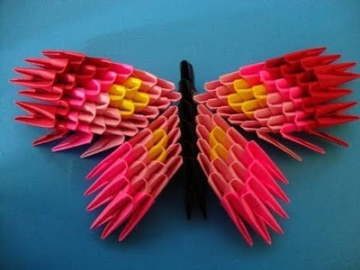 How to make a 3d origami butterfly