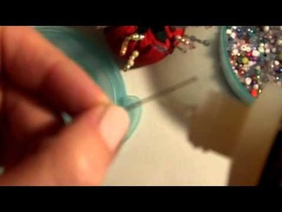 How to make a beaded stick pin! Great for card making embellishment!
