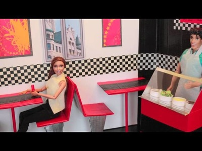 How to Make a Doll Food Display Case for a Restaurant - Doll Crafts