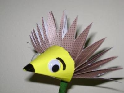 How to make a paper porcupine. hedgehog - EP
