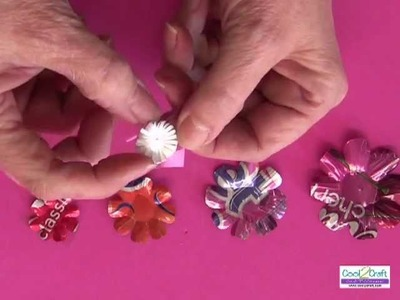 How To Make A Soda Can Flower Using Aleene's Tacky Dot Singles