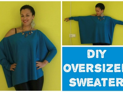 How To Make an Oversized Sweater in 5min | DIY Clothes