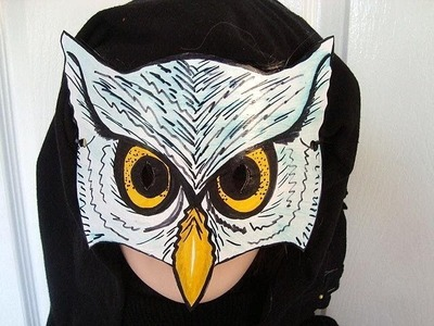 HOW TO MAKE AN OWL MASK, halloween, masquerade, carnival, mardi gras, dress-up, paper crafts