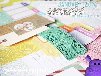 January 2014 Monthly Kit AND A Scrapbook Page Tutorial