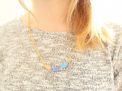 Jewellery Making: How to Make a Glass Bead Necklace DIY Tutorial