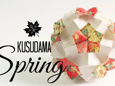 Kusudama spring instructions (Tomoko Fuse)