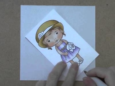 La-La Land Crafts TV {Copic Coloring - Marci with Rose} Episode 1, part 2
