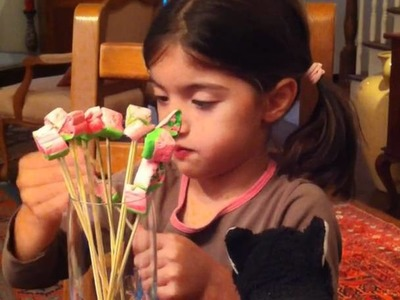 Marshmallow Bouquet - fun kids crafts
