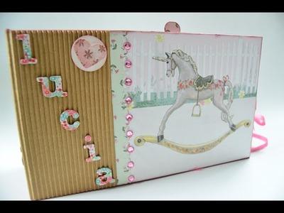 Mini Álbum Scrapbook para niña - Ideartelo