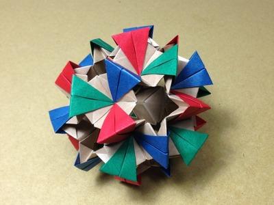 Modular Origami. Kusudama. Sonobe 30units