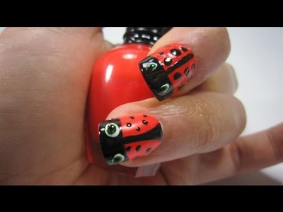 Nail art lady bug Tutorial - EP