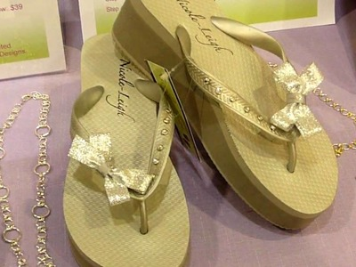 Nicole-Leigh Designs Exhibits Flip Flops at a school craft show