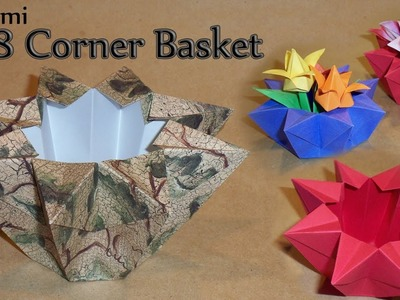 Origami 8 Cornered Basket