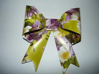 Оригами из бумаги Бант Мастер класс Origami Paper Bow