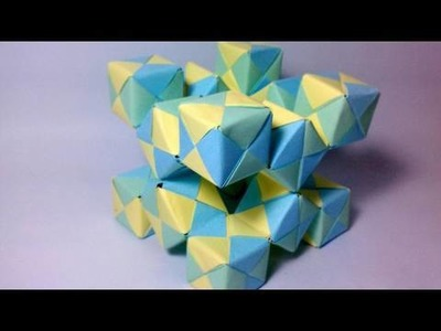Origami Moving Cubes 2 - using Sonobe units