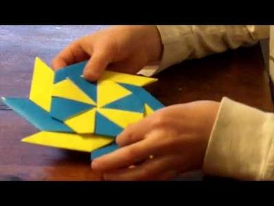 Origami Ninja Star \ Frisbee (reversable)