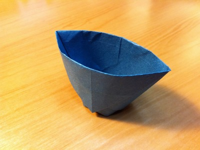 Origami Paper Cup. Instructions. Tutorial