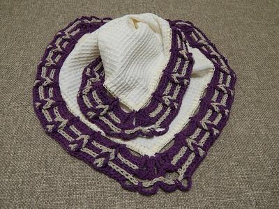 Orilla para Cojin Crochet