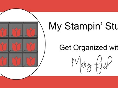 Paper Storage Ideas from My Stampin' Studio