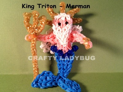Rainbow Loom KING TRITON MERMAN Advanced Charm Tutorial by Crafty Ladybug