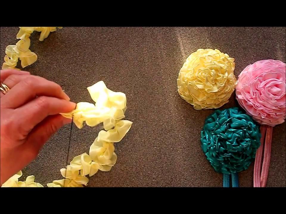 Ribbon Carnations by Crafty Ribbons