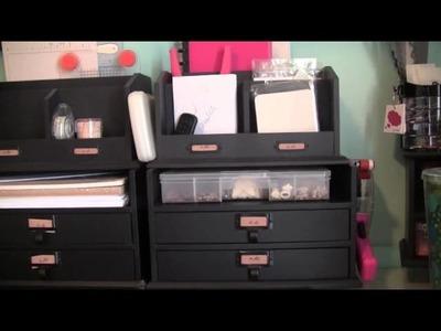 Scrap Room Organizing: My Desk and Video Equipment setup