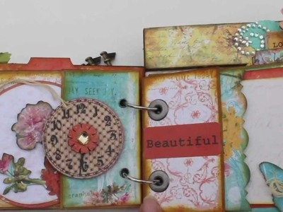 "Scrapbooking ""Adorable Friends"" Paper Bag Mini Album featuring Prima's Zephry Collection"