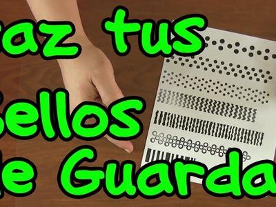 Sellos de guardas. Tutorial Scrapbooking - Homemade Stamps DIY