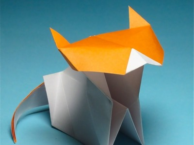 Simple Origami kitty by Jacky Chan