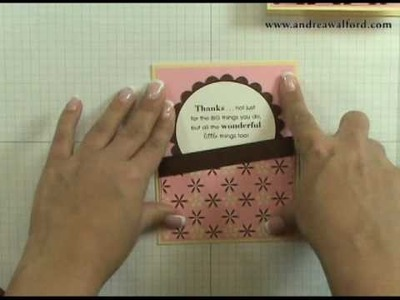 Stampin' Up! Tutorial: Circle Sketch Card